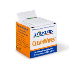 Sticklers Fiber Optic Wipes - CLEANWIPESR 600 Optical Grade Wipes WSC100