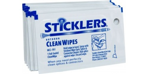 Sticklers CleanWipes Singles for Outdoor Use